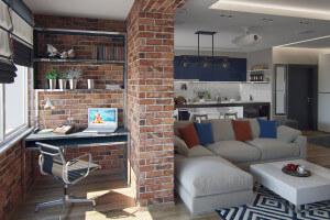 Дизайн интерьера квартиры ЖК Счастливое, 78 м2 004