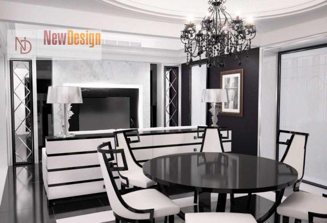 Стиль арт-деко мебель на кухне