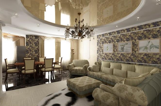 дизайн интерьера гостинной классическом стиле