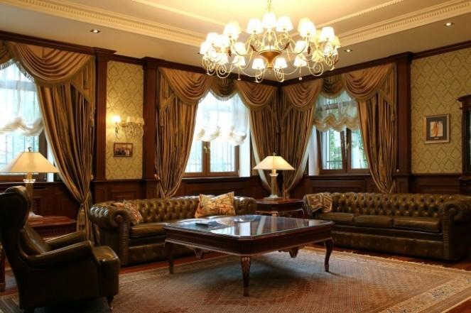 интерьер гостинной в английском стиле