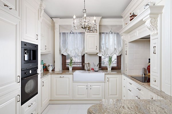интерьер кухни английском стиле