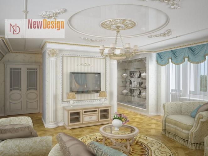 классический дизайн гостиной - фото