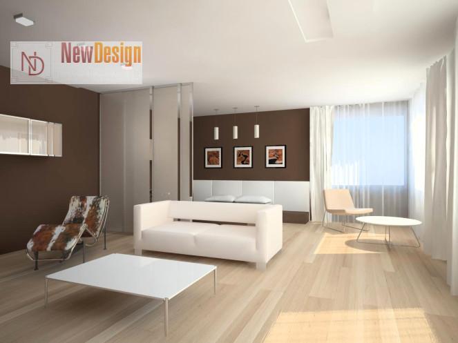 комната в стиле минимализм - фото