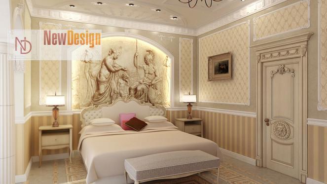 фото классический интерьер спальни