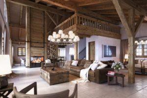 Дизайна интерьера квартиры в стиле шале - фото 21