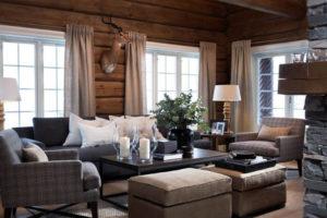 Дизайна интерьера квартиры в стиле шале - фото 24