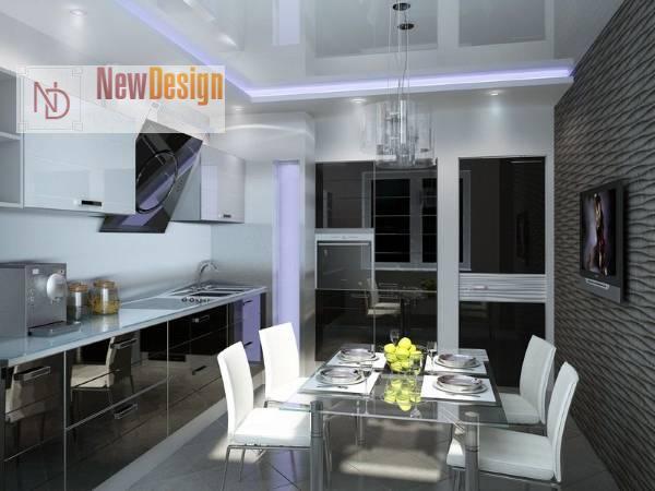 Оформление квартиры в стиле хай-тек - фото 3