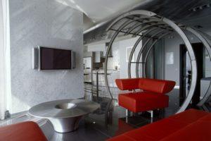 Дизайна интерьера квартиры в стиле хай-тек - фото 22