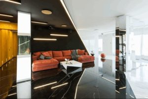 Дизайна интерьера квартиры в стиле хай-тек - фото 21