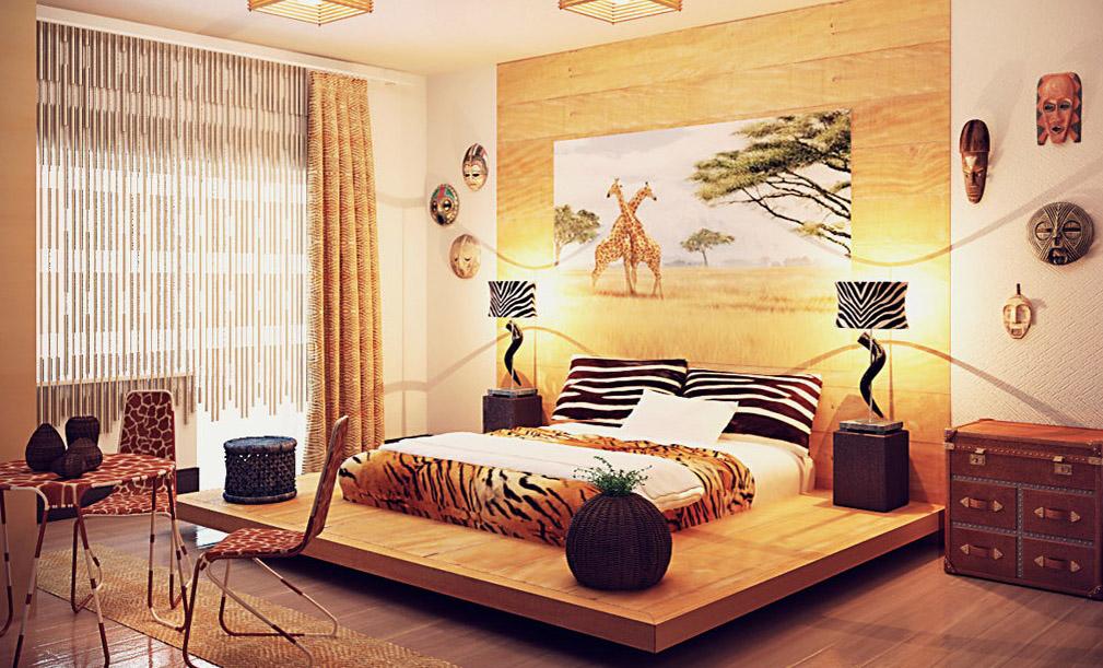 Африканский интерьер комнаты