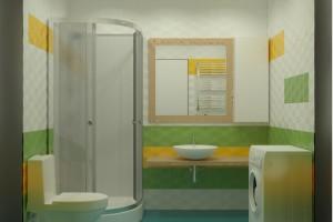 Дизайн интерьера 1-но к. кв. 45 м2, ЖК «Петровский квартал», фото 10