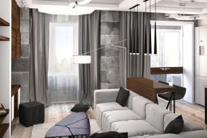 Дизайн интерьера ЖК «Петровский квартал» в стиле Лофт, фото 6