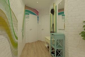 Дизайн интерьера 1-но к. кв. 45 м2, ЖК «Петровский квартал», фото 5