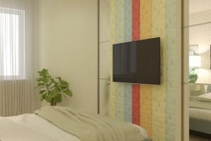Дизайн интерьера 1-но к. кв. 45 м2, ЖК «Петровский квартал», фото 3