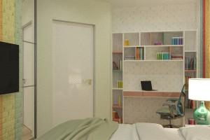 Дизайн интерьера 1-но к. кв. 45 м2, ЖК «Петровский квартал», фото 2