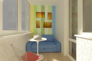 Дизайн интерьера 1-но к. кв. 45 м2, ЖК «Петровский квартал», фото 11