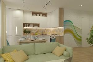 Дизайн интерьера 1-но к. кв. 45 м2, ЖК «Петровский квартал», фото 8