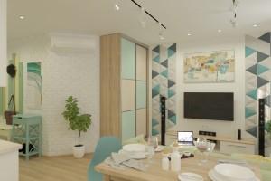 Дизайн интерьера 1-но к. кв. 45 м2, ЖК «Петровский квартал», фото 7