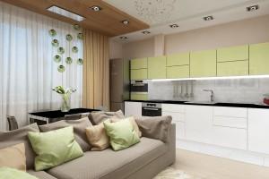 Дизайн интерьера 3-х к.кв. 103 м2, ЖК «Малахіт», фото 30