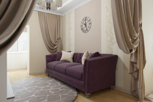 Дизайн интерьера 1-но к.кв. 49 м2, ЖК «Озерные зори», фото 9