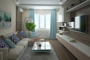 Дизайн интерьера 2-х к.кв. 80 м2 по ул Драгоманова, фото 7