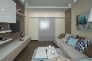 Дизайн интерьера 2-х к.кв. 80 м2 по ул Драгоманова, фото 9