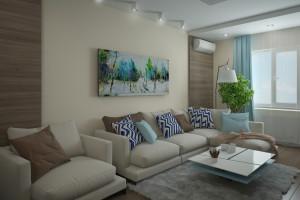 Дизайн интерьера 2-х к.кв. 80 м2 по ул Драгоманова, фото 11