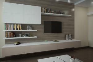 Дизайн интерьера 2-х к.кв. 80 м2 по ул Драгоманова, фото 14