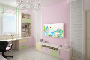 Дизайн интерьера 3-х к.кв. 103 м2, ЖК «Малахіт», фото 11