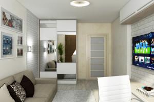 Дизайн интерьера 3-х к.кв. 103 м2, ЖК «Малахіт», фото 19