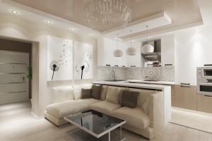 Дизайн интерьера 1-но к. кв. 46 м2, Дарницкий р-н, Харьковское шоссе, фото 1
