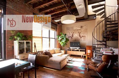 Элементы дизайна интерьера в стиле лофт - фото 6