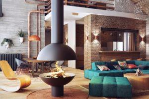 Дизайна интерьера квартиры в стиле лофт - фото 24
