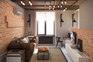 Дизайна интерьера квартиры в стиле лофт - фото 21