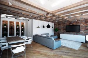 Дизайна интерьера квартиры в стиле лофт - фото 19