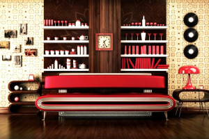 Дизайн интерьера в стиле ретро