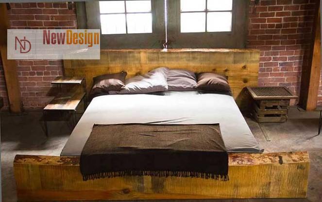 спальня в стиле гранж - фото