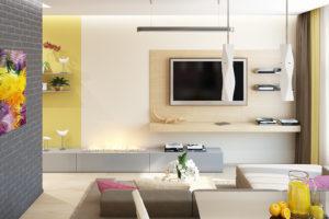 Дизайн интерьера Новострой 76 м2, ЖК Скайленд, фото 2