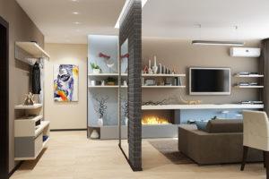 Дизайн интерьера Новострой 76 м2, ЖК Скайленд, фото 32