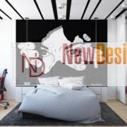 Дизайн интерьера Новострой 76 м2, ЖК Скайленд, фото 44