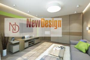 Дизайн интерьера ул. Метрологическая 9-в, новострой 61м2 ,2х ком. кв, фото 15