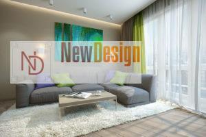 Дизайн интерьера ул. Метрологическая 9-в, новострой 61м2 ,2х ком. кв, фото 16