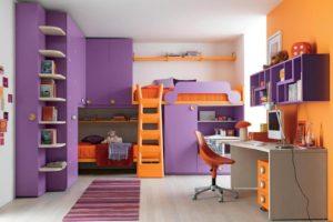 сочетание цветов интерьера детская популярный