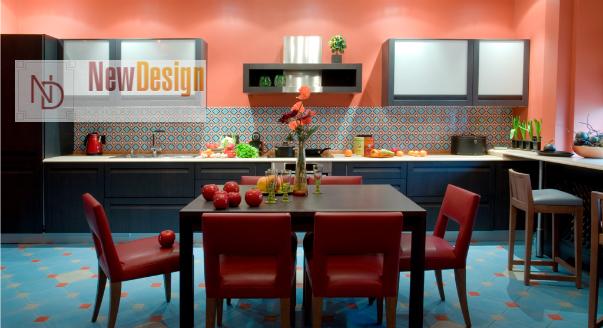 сочетание цветов интерьера кухня