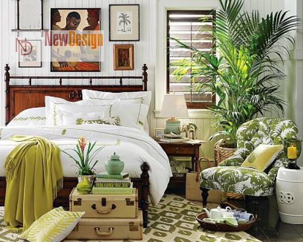 Тропический стиль в интерьере