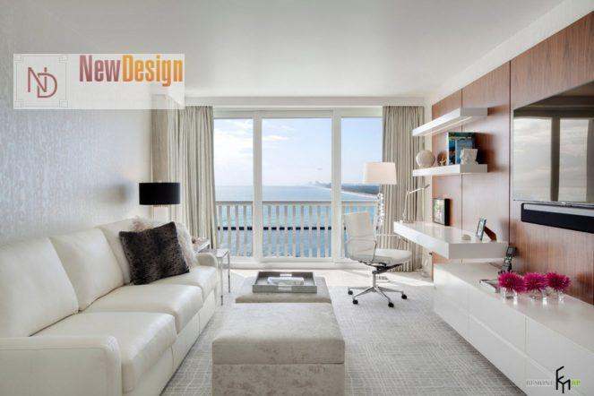 Дизайн гостиной в белых тонах - фото 16