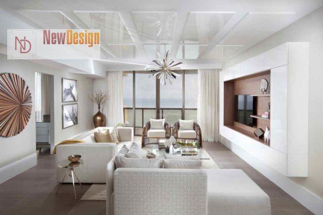Дизайн гостиной в белых тонах - фото 15