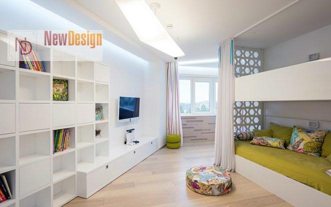 Дизайн детской комнаты в белых тонах - фото 17