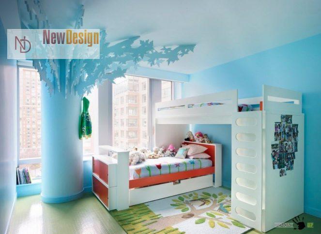 Интерьер детской в синем цвете - фото 23