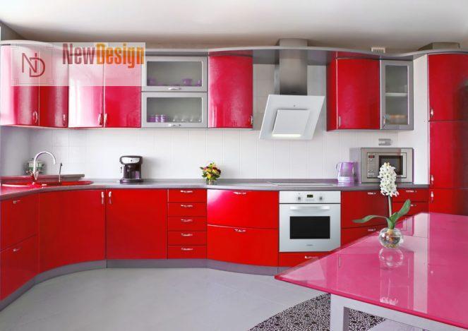 Дизайн красной кухни - фото 11